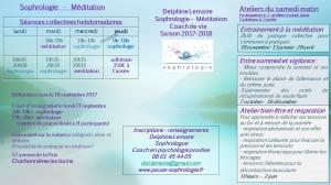 programme méditation sophrologie rentrée 2017 2018